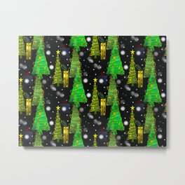 Christmas Snow Fall Metal Print