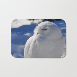 Snowy in the Snow by Teresa Thompson Bath Mat