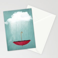 EMBRACING the rain Stationery Cards