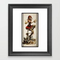 Zombie Beer Girl Framed Art Print
