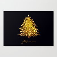 christmas tree Canvas Prints featuring Christmas tree by valzart