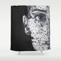 anonymous Shower Curtains featuring Anonymous - Ella by Fernando Vieira