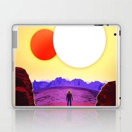 NASA Space Travel Retro Poster Kepler- 16B Laptop & iPad Skin