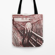 The Scream's Haze (red) Tote Bag