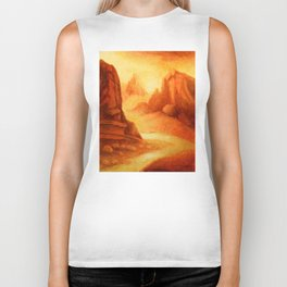 Mystic Canyon  hand painted landscapes Biker Tank