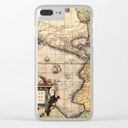 Map Of America 1570 Clear iPhone Case