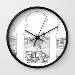Budapest and hungarian parliament Wall Clock