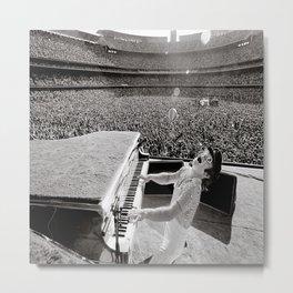 Elton Joh-n Poster at Dodger Stadium Metal Print