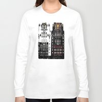 building Long Sleeve T-shirts featuring Radiator Building by Steve W Schwartz Art