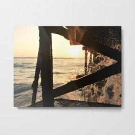 Sunset under a Pier in Peru Metal Print