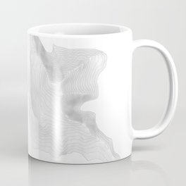 Pikes Peak Colorado Topographic Art Coffee Mug