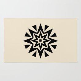 Star cushion round Rug