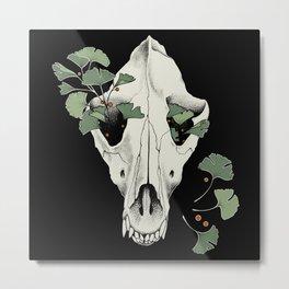 Ginkgo Wolf Metal Print