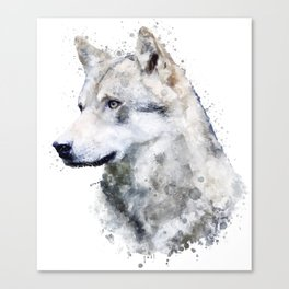 Watercolor wolf Canvas Print