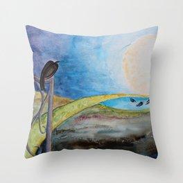 Crow Moon Throw Pillow
