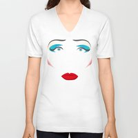 hedwig V-neck T-shirts featuring John Cameron Mitchell as HEDWIG by KnoblArt
