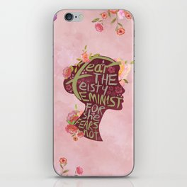Feisty Feminist iPhone Skin