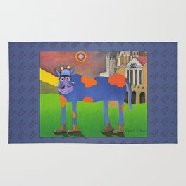 Udderly Frank - Funny Cow Art Rug