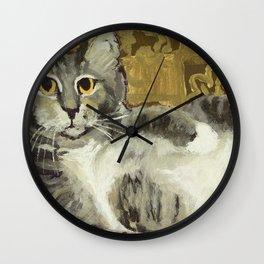 Risque Tabby Wall Clock