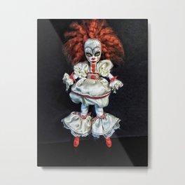 Female 'IT' custom doll Metal Print