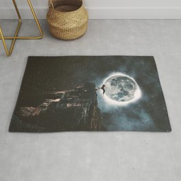 Yoga Under The Moon Light Rug