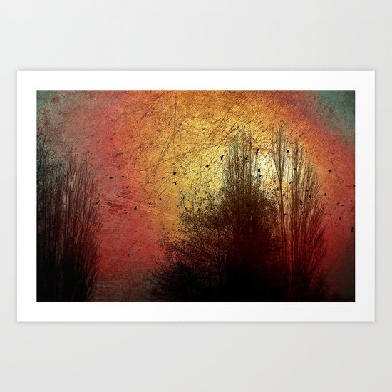 Last sunny day Art Print