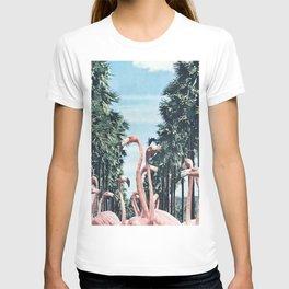 Palm Trees & Flamingos T-shirt