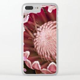 Macro Protea Clear iPhone Case