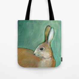 Portrait of a Nut Brown Hare Tote Bag