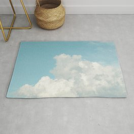 Summer Sky 3 - Fluffy White Clouds and Blue Sky Rug