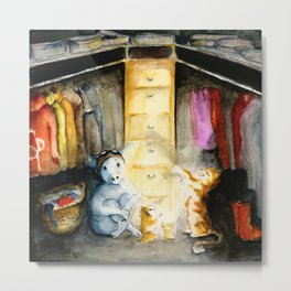 Closet therapy with Super Pig  Metal Print
