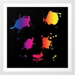 Splattered Panda Art Print