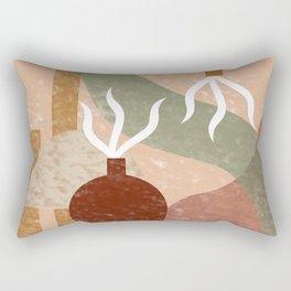 Minimal Terracotta Rectangular Pillow