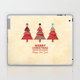 Three Christmas Trees Laptop & iPad Skin