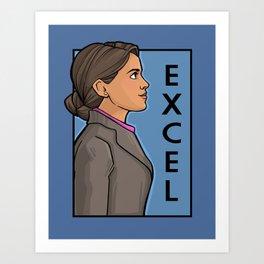Excel Art Print