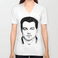 leonardo dicaprio V-neck T-shirts featuring Leonardo DiCaprio by beecharly