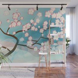 Cherry Blossom Reverie Wall Mural