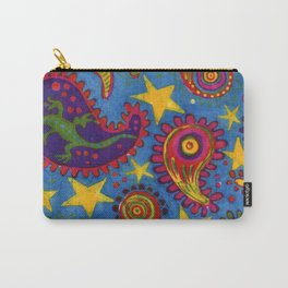 Lizard Paisley Batik Carry-All Pouch