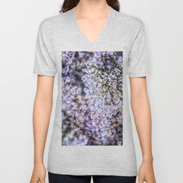 Top Shelf Grand Daddy Purple Close Up Buds Trichomes View Unisex V-Neck
