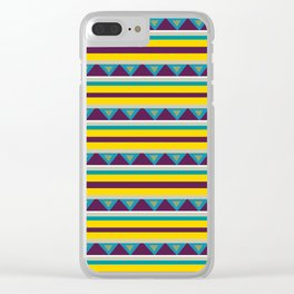 Triangles & Stripes Pattern Clear iPhone Case
