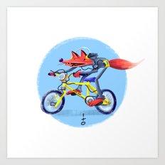 fox bike Art Print