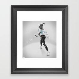 Tattoo and Katana Framed Art Print
