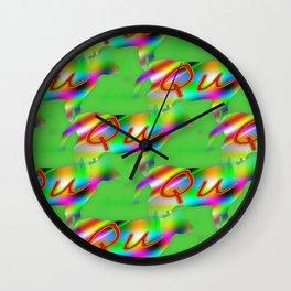 Qu - pattern 1 Wall Clock