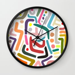 Line Drawing Pattern Wall Clock