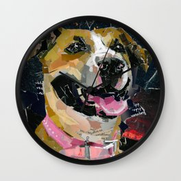 Rosie the Pittie Wall Clock