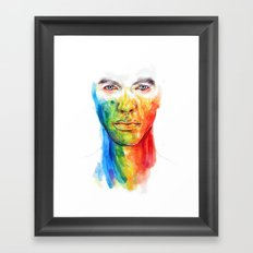 The colors of my life Framed Art Print