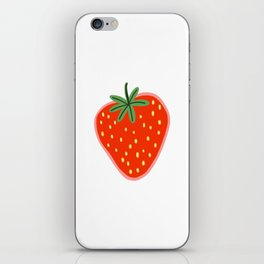 Strawberry cute illustration iPhone Skin
