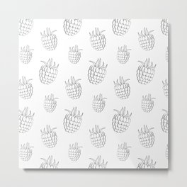 Cute and nice fruits and berry with raspberry Metal Print