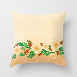 Abstract roses background Throw Pillow