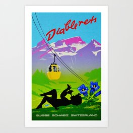 Diablerets Mountain Swiss Alps Travel Art Print